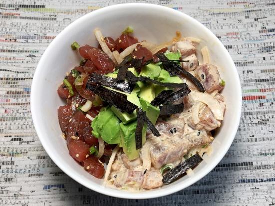 Man Fuel Food Blog - Poke Recipe - Ahi Tuna Poke Bowl with Spicy Mayo