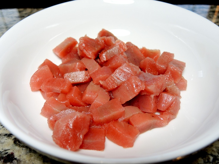 Man Fuel Food Blog - Poke Recipe - Chopped Yellowfin Tuna
