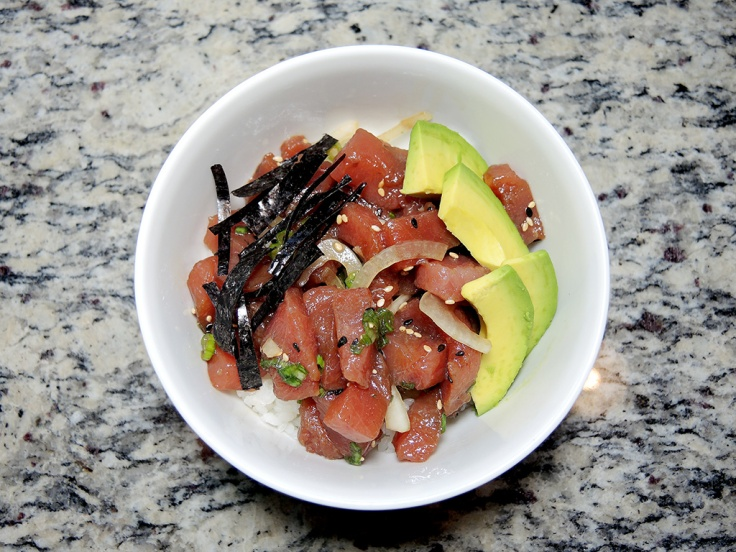 Man Fuel Food Blog - Poke Recipe - Tuna Poke Bowl