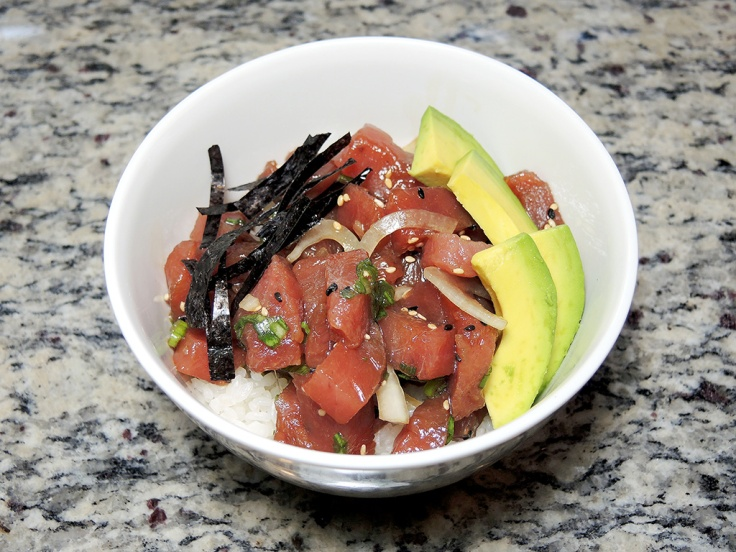 Man Fuel Food Blog - Poke Recipe - Yellowfin Tuna Poke Bowl