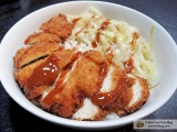 Crispy Chicken Katsu with Tonkatsu Sauce and Sesame Cabbage Recipe