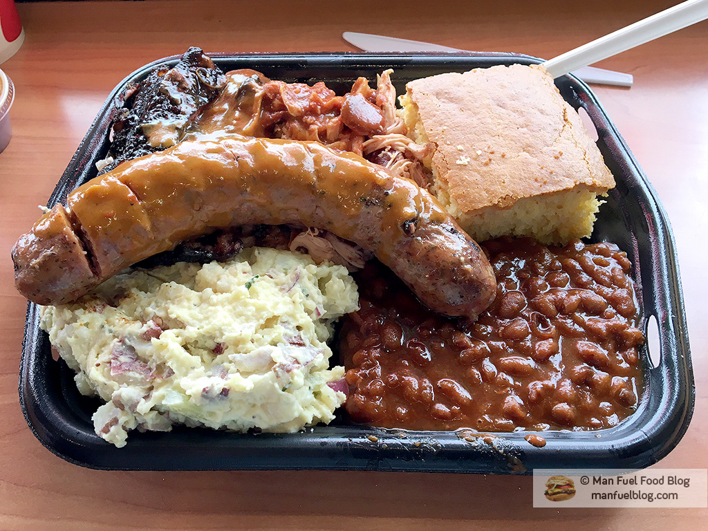 Man Fuel Food Blog - Blue Ribbon BBQ - Newton, MA - BBQ Platter with Smoked Chicken