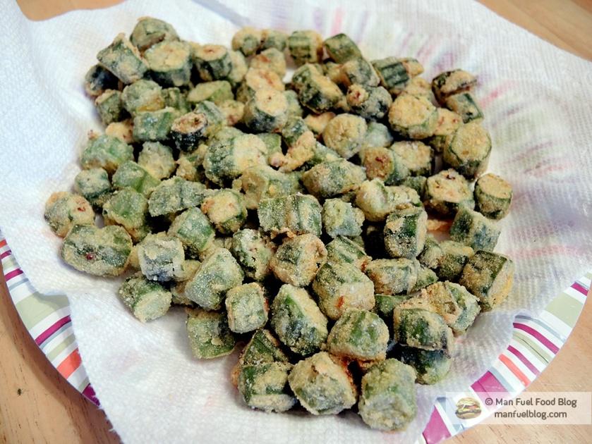 Man Fuel Food Blog - Cornmeal Fried Okra Recipe