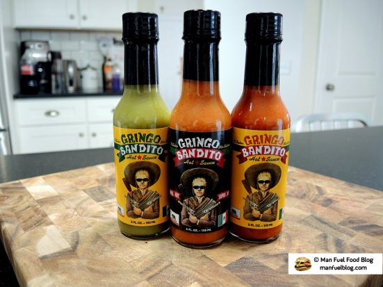 Man Fuel Food Blog - Gringo Bandito Hot Sauce Review - Red, Green, and Super Hot