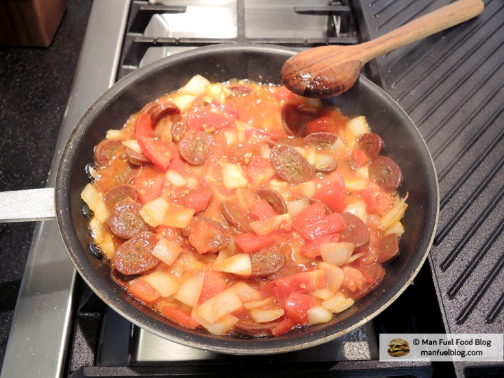 Man Fuel Food Blog - Soujouk Recipe - Simmering