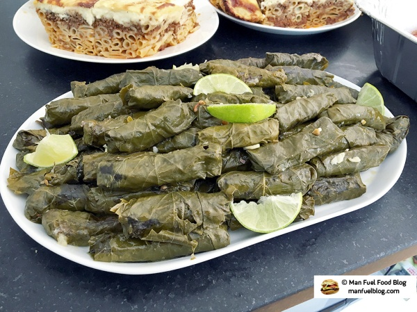 Man Fuel food Blog - Egyptian Stuffed Grape Leaves Recipe with Meat and Rice