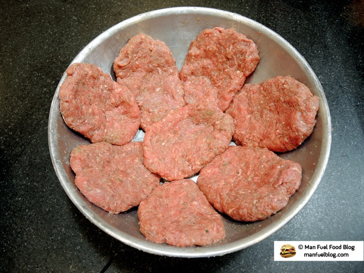 Man Fuel Food Blog - Salisbury Steak Recipe - Forming Steaks