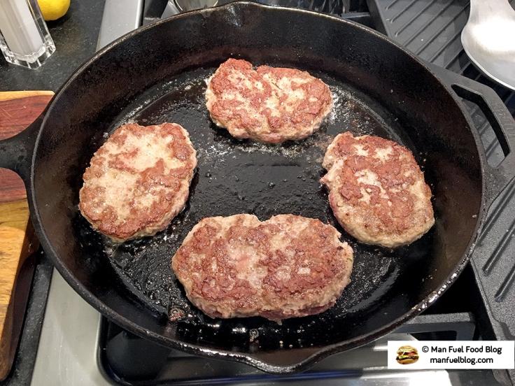 Man Fuel Food Blog - Salisbury Steak Recipe - Sauteeing Steaks