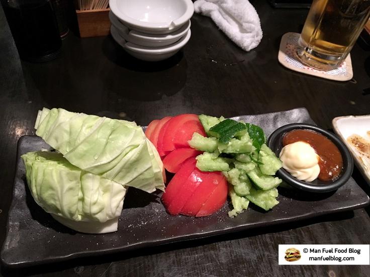 Man Fuel Food Blog - Kurara - Koenji, Japan - Vegetables