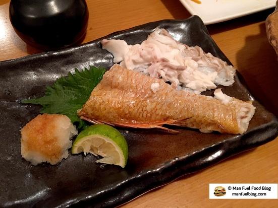 Man Fuel Food Blog - Miroku Restaurant - Koenji, Japan - Red fish
