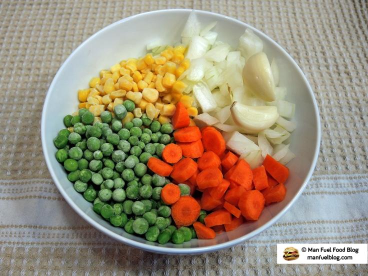 Man Fuel Food Blog - Shepherds Pie Veggies