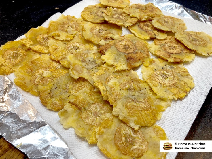 Home Is A Kitchen - Tostones Pressed After First Fry