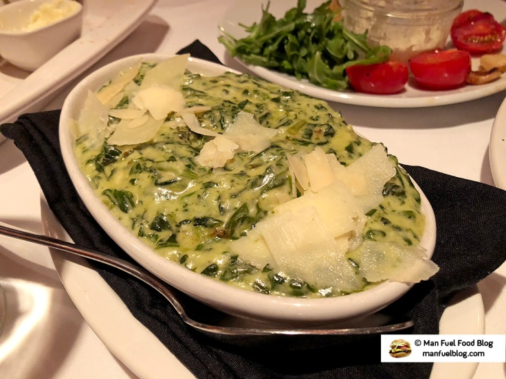 Man Fuel Food Blog - Flemings Providence - Creamed Spinach