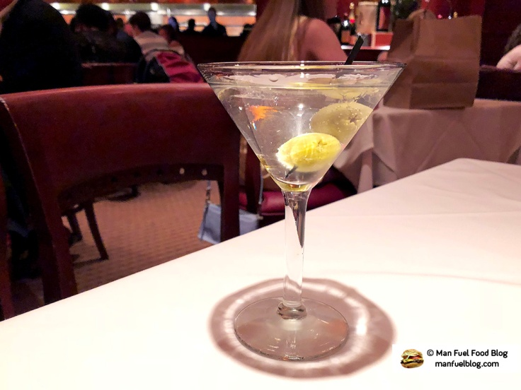 Man Fuel Food Blog - Flemings Providence - Martini