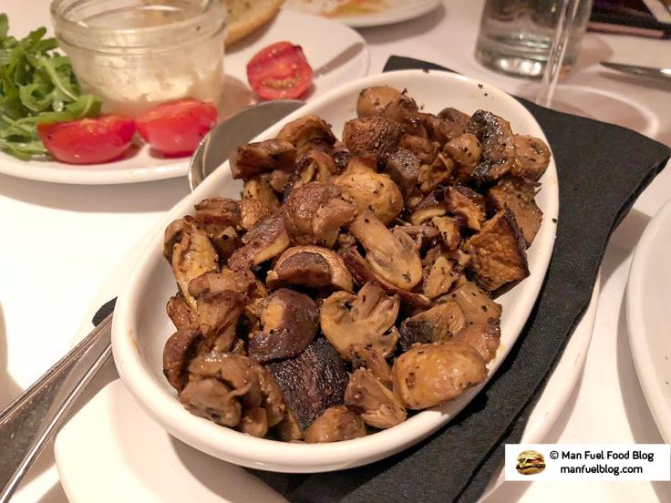 Man Fuel Food Blog - Flemings Providence - Sauteed Mushrooms
