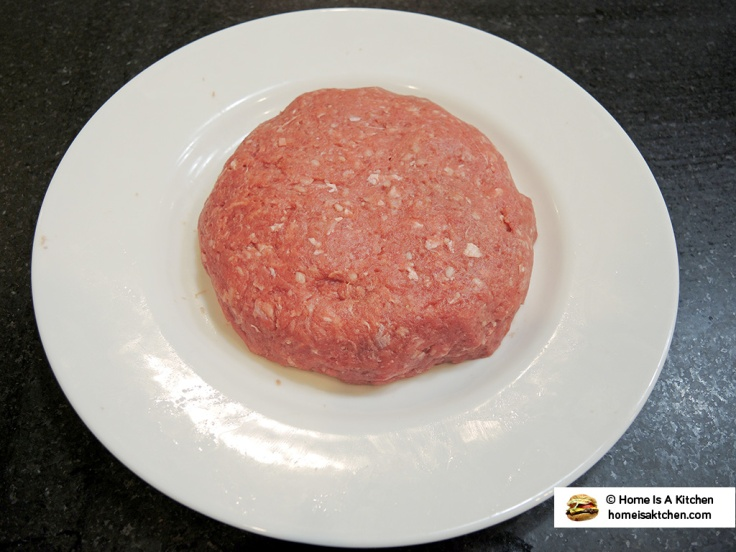 Home Is A Kitchen - Food Blog - Burger Patty Stuffed with Blue Cheese