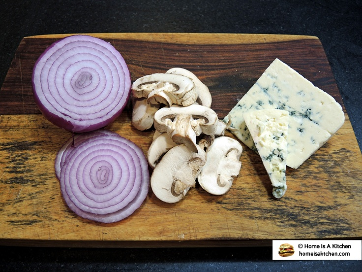 Home Is A Kitchen - Food Blog - Red White and Blue Burger Ingredients