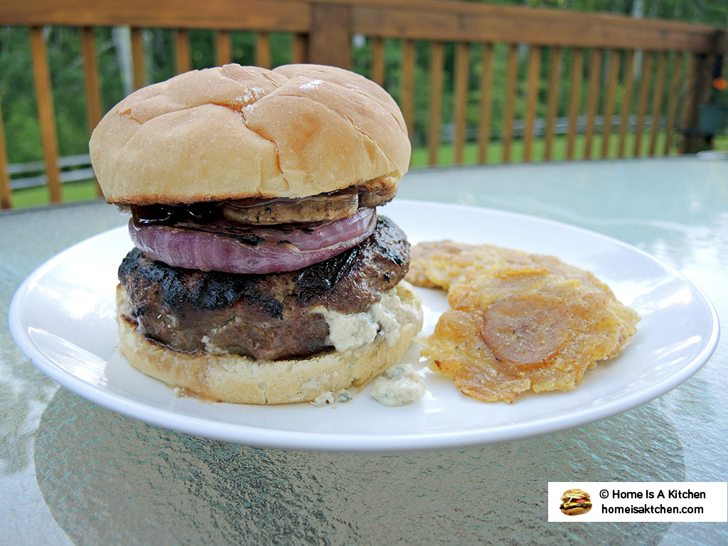 Home Is A Kitchen - Food Blog - Red White and Blue Burger Recipe