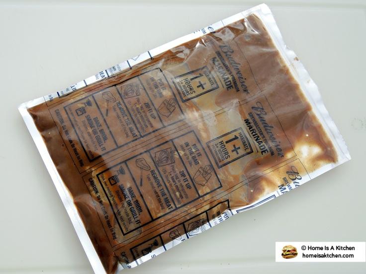 Home Is A Kitchen - Budweiser Steak Marinade Bag - Back