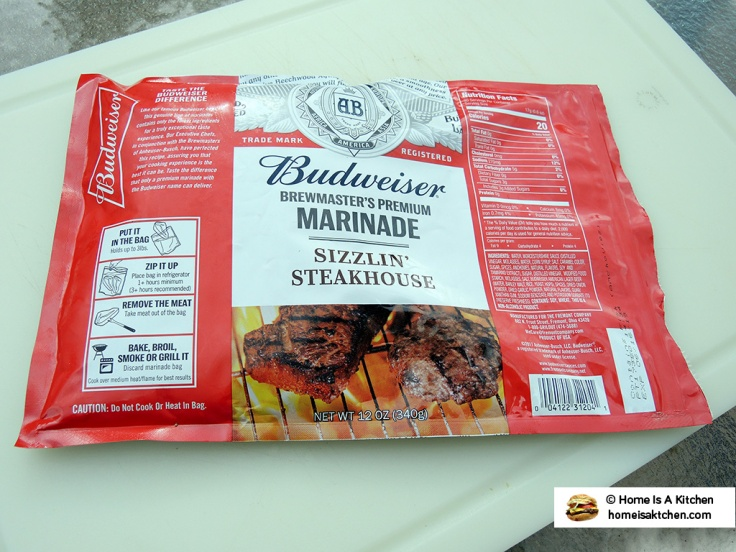 Home Is A Kitchen - Budweiser Steak Marinade Bag