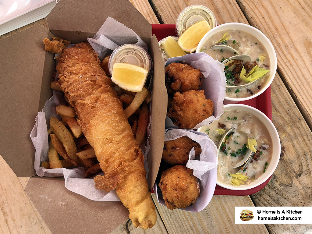 Home Is A Kitchen - Dune Brothers Seafood - Chowder, Clam Cakes, Fish and Chips