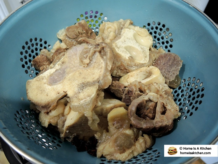 Home Is A Kitchen - Parboiled and Drained Beef Bones