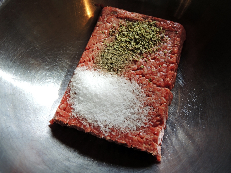 Man Fuel Food Blog - Ground Beef with Spices for Gyro