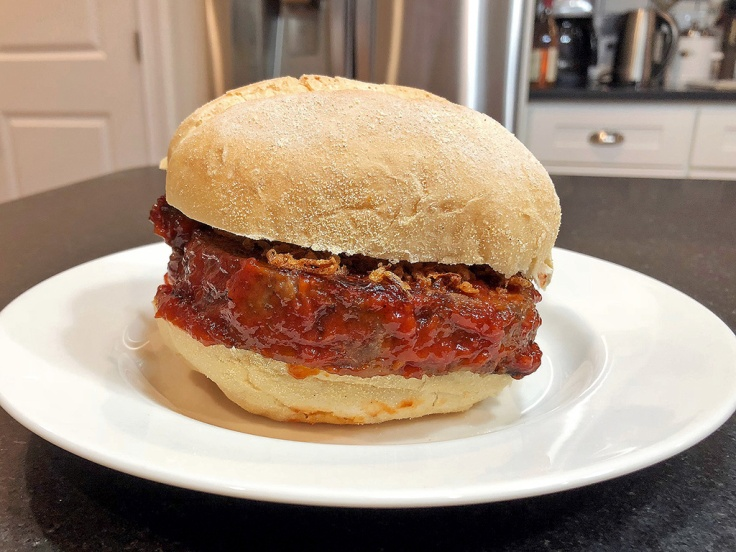 Home Is A Kitchen - Caramelized Onion Meatloaf Sandwich