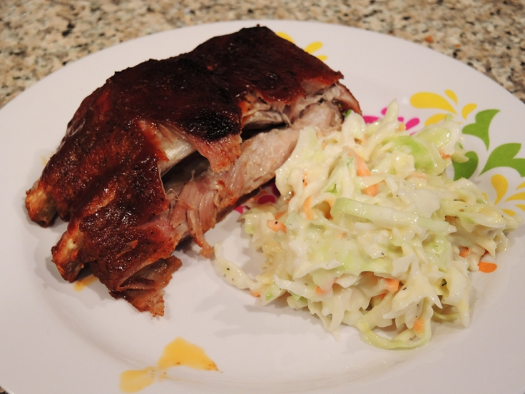 Home Is A Kitchen - Baby Back Ribs with Homemade Coleslaw