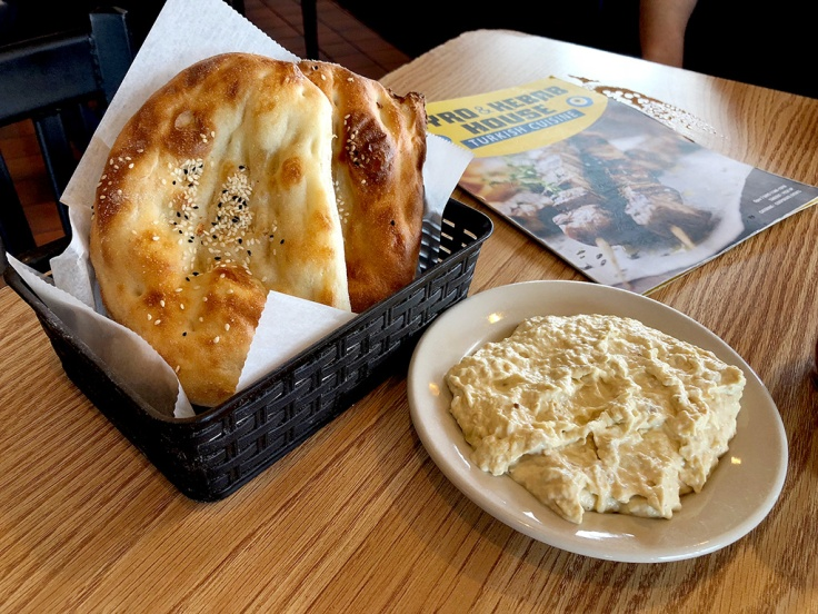 Home Is A Kitchen - Gyro & Kebab House - Norwood, MA - Baba Ghanoush and Bread