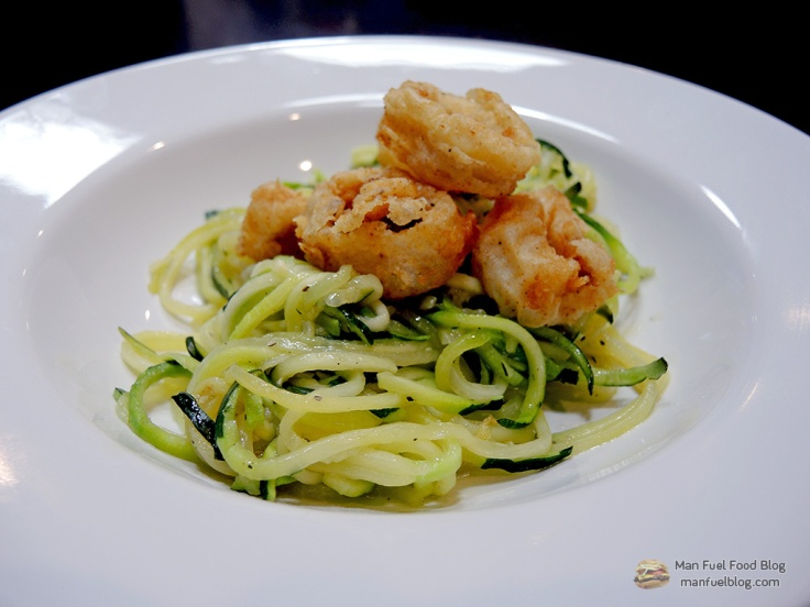Home Is A Kitchen - Fried Calamari Over Zoodles