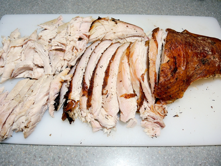 Home Is A Kitchen - Dry Brined and Smoked Whole Turkey Recipe - smoked whole turkey carved