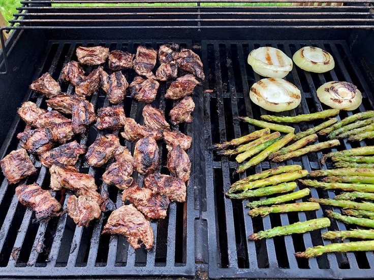 Home Is A Kitchen - Grilled Steak Tips - Grilling