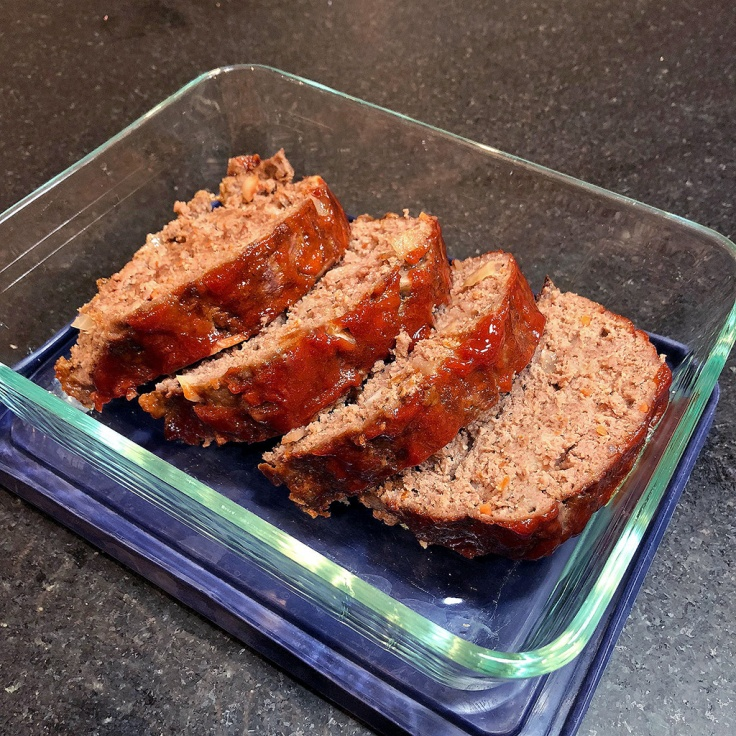 Home Is A Kitchen - Sliced Caramelized Onion Meatloaf
