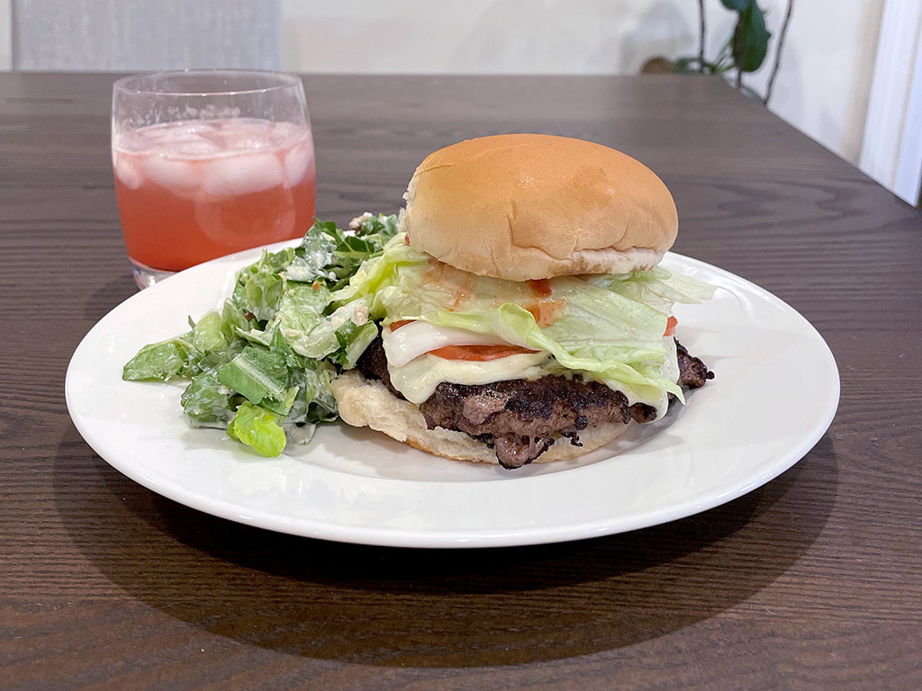 Home Is A Kitchen - Good Ranchers Review - Chopped Steak Burger