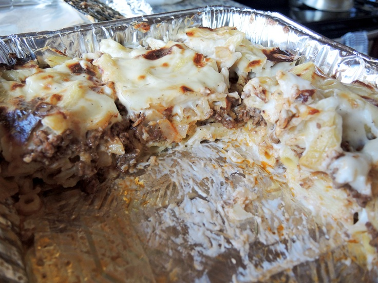 Home Is A Kitchen - macarona-bechamel-recipe-pastitso-in-the-tray
