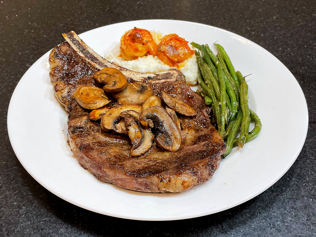 Home Is A Kitchen - Good Ranchers Review - Ribeye Steak Plated