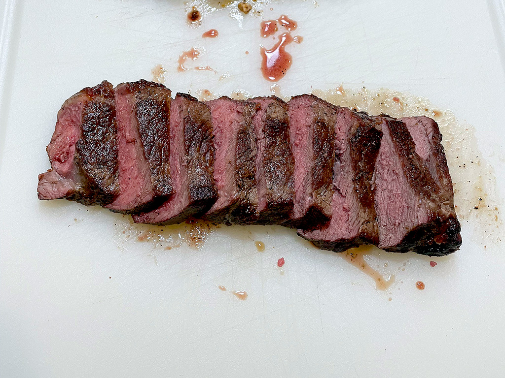 Home Is A Kitchen - Crowd Cow Review - NY Strip Sliced