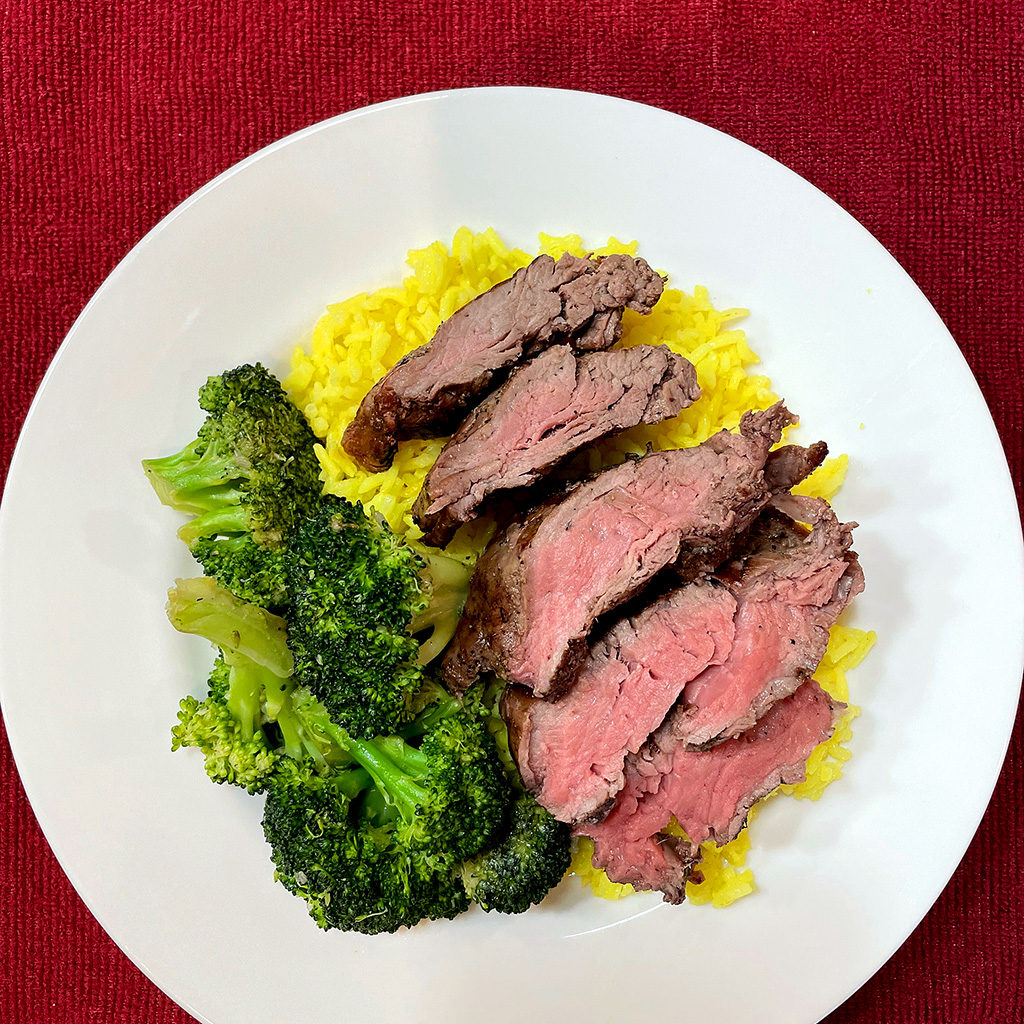 Home Is A Kitchen - Crowd Cow Review - Tenderloin Tips and Broccoli